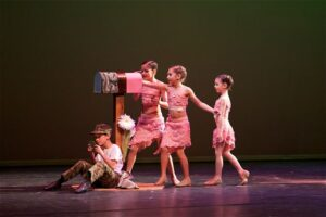 Kids performance on stage in dance